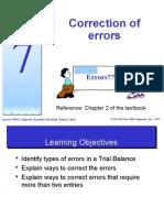 Topic 7 - Correction of Errors