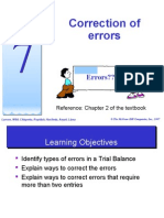 Topic 7 - Correction of Errors