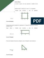 Área Das Figuras Geométricas Planas