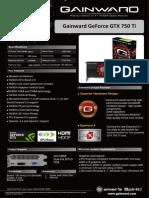 Gainward NVIDIA datasheet