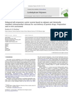 Enhanced PH-responsive Carrier System Based on Alginate and Chemically Modified Carboxymethyl Chitosan for Oral Delivery of Protein Drugs- Preparation and in-Vitro Assessment