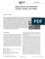 Macroporous Polymer Beads and Monoliths From Pickering Simple, Double, And Triple Emulsions 2012
