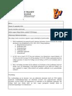 VVD Gennep Schriftelijke Vragen Inzake Onkosten Declaraties