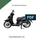 Manual de Taller Keeway Logik (Idioma Ingles)