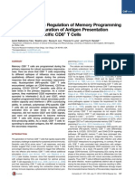 Epitope-Specific Regulation of Memory Programming