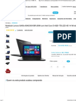 Notebook Lenovo G400s-80AC0001BR-2099 Com Intel Core i5 4GB 1TB LED HD 14 Windows 8 Preto - Submarino.com