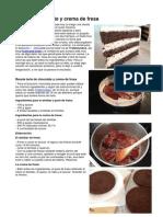 Tarta de Chocolate y Crema de Fresa