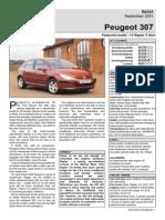 Peugeot 307 1.6 Rapier 5door Sep01