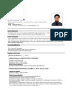 Muntashir Islam CV