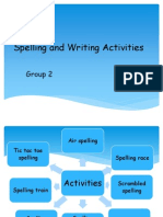 Spelling and Writing Activities