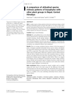 Oriol Grau; John-Arvid Grytnes; H. J. B. Birks -- A Comparison of Altitudinal Species Richness Patterns of Bryophytes With Othe (1)