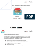 GRE Reading Comprehension Practice Questions