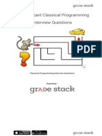 Classical Programming Interview Questions