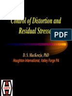 Control of Distortion and Residual Stresses