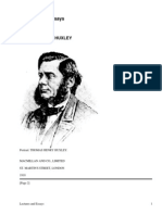 Lectures and Essays by Huxley, Thomas Henry, 1825-1895