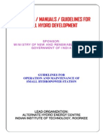 Guidelines for Operation and Maintenance of Small Hydropower Station