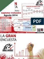Encuesta Desempeño de Enrique Peña Nieto Segundo Informe de Gobierno