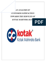 A Project Report on Kotak Mahindra Bank
