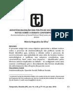 Assistencialização Das p s Breve Notas Sobre o Debate