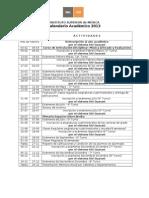 ISM . Calendario Academico 2013