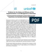 WHO UNICEF 2007 Evidence for the Safety and Efficacy of Zinc Supplementation in the Management of Diarrhoea
