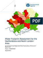 Water Footprint Assessment for the  Hertfordshire and North London  Area