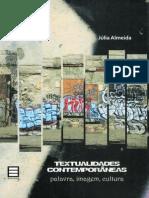Textualidades Contemporaneas Palavra Imagem Cultura Livro Digital