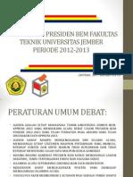 Debat Calon Presiden Bem Fakultas Teknik Universitas Jember