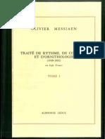 I-59(a) - Traité de Rythme de Couleur Et Dornithologie Vol. 1