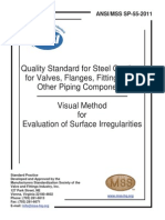 MSS SP-55 2011 QUALITY STANDARD for STEEL CASTINGS for Valves, Flanges, Fittings, And Other Piping Components