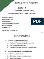 Lecture 9 ABC, Cvp