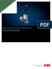 1HSM 9543 21-03en Live Tank Circuit Breakers Routine Testing Ed3