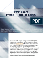 PMP Exam  Myths – True or False?