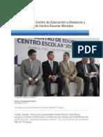 01-09-2014 Periódico Digital.mx - RMV inaugura Centro de Educación a Distancia y rehabilitación de Centro Escolar Morelos.