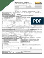 Formato Para El Informe de Citología Cervical en El Hospital General de México