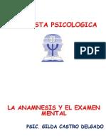 Anamnesis y Examen Mental