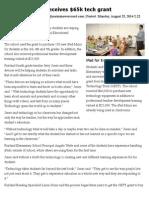 Fairland School receives OETT grant