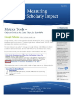 Measuring Your Scholarly Impact
