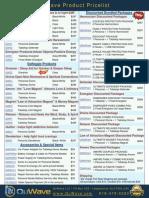 QuWave Product Pricelist