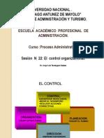 SESION   N° 22  EL Control