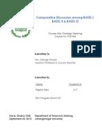 Comparartive Discussion among Basel I, Basel II & Basel III