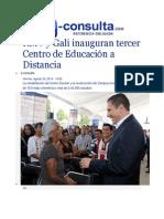 29-08-2014 e-consulta.com - RMV y Gali inauguran tercer Centro de Educación a Distancia.