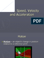 motion speed velocity and acceleration