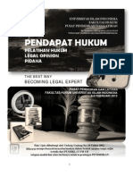 Contoh Legal Opinion PIDANA