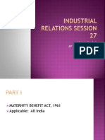 Industrial Relations Session 27 Sep 24