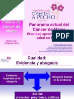 Panorama actual del Cáncer de Mama Prioridad apremiante para la salud en México