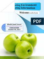 Marketing Environment and Marketing Information System