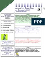 12 01 09 Pemberton Classroom Newsletter