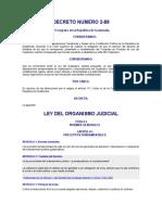 Ley Del Organismo Judicial Decreto Del Congreso 2-89