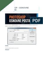 Photoshop - Osnovne Postavke